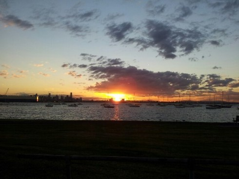 The view from the strand in Williamstown